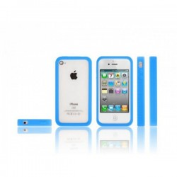 Coque Bumper iPhone 4 souple et fluorescente