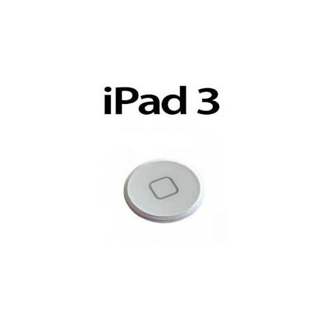 Bouton Home iPad 3 blanc