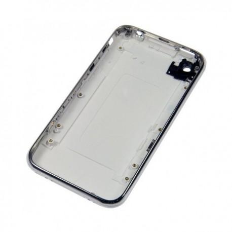 Coque arrière de remplacement iPhone 3GS blanc avec contour chromé bezel