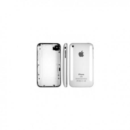 Coque arrière de remplacement iPhone 3G blanc avec contour chromé bezel