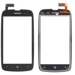 Ecran vitre tactile Nokia Lumia 610 assemblée sur châssis