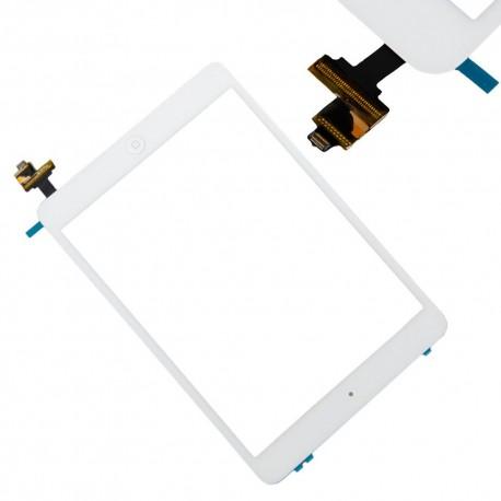 Vitre tactile complète iPad Mini Blanc