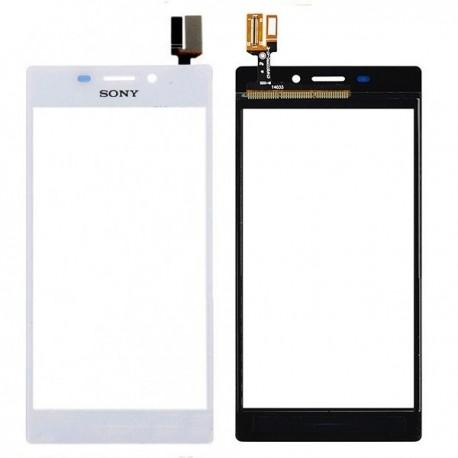 Vitre tactile Sony Xperia M2 D2305 D2306 blanc